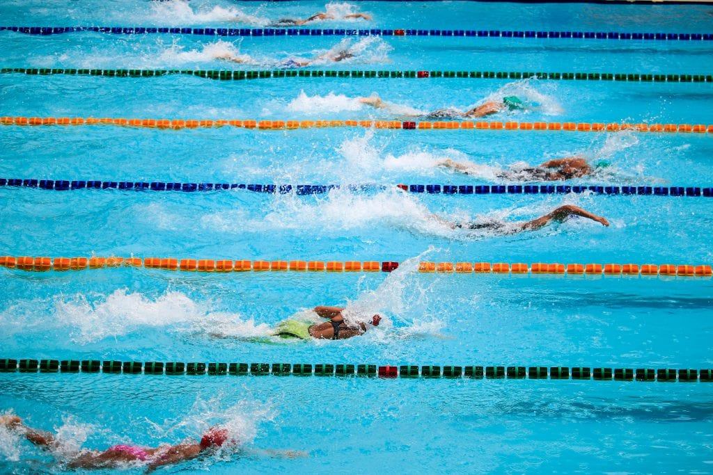 Land based swimming exercises. Part 4, straight arm strength.